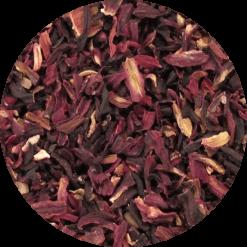 De bloemen van de Hibiscus worden gebruikt voor de kruidenthee. Verpakt per 100 gram in handige stazak