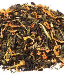 Oriental Dream is een 100% biologische thee op basis van groene Sencha thee en zwarte Assam thee verrijkt met goudsbloem. Een frisse thee voor elk moment.