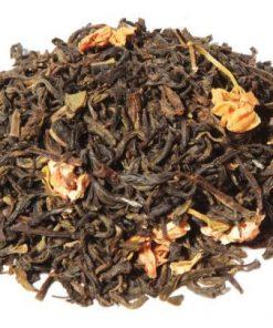 China jasmijn thee (met bloesem) is een smakelijke Chinese groene thee gemengd met jasmijnbloesem. Een heerlijke zachte jasmijn thee.