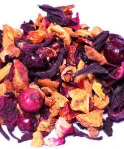 Cranberry thee is een 100% biologische thee met de smaak van echte cranberry's. Naast cranberry's ook appel, hibiscus, rozenbottel, druif en vlierbes