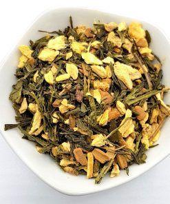 Groene Thee Gember Kaneel is op basis van onze biologische Groene Thee Sencha aangevuld met 100% natuurlijke gember en kaneel.