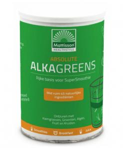 Absolute AlkaGreens Poeder - 85% van de ingrediënten zijn biologisch - Bevat geen gluten. Chlorella en Spirulina bevatten van nature sulfiet.