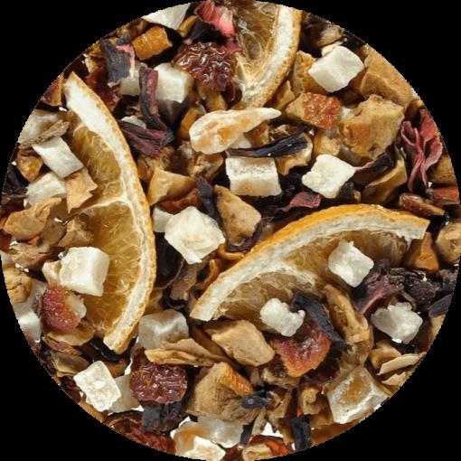 """Ayurveda mix Vrouwenthee speciaal is een heerlijke """"dames"""" thee. Vol met goede en smakelijke kruiden met een toon van sinaasappel"""