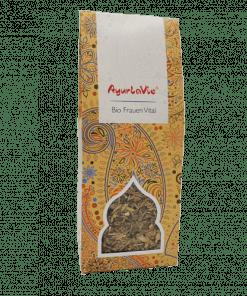 Vrouw vitaal Ayurlavie. Een met grote zorgvuldigheid samengestelde Kruiden melange, die zorgt voor een fit en vitaal gevoel.