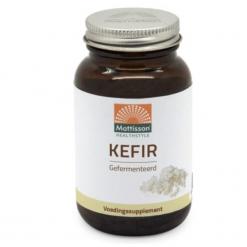 Kefir Gefermenteerd Probiotica bestaat uit een samenlevingsvorm van melkzuurbacteriën, gisten, streptokokken en andere bacteriën. Verpakt per 60 capsules.