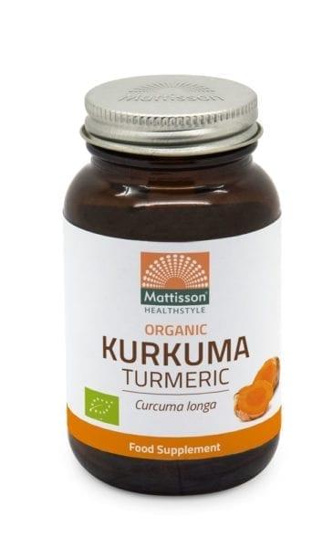 Biologische Kurkuma. ondersteunt een gezonde spijsvertering, heeft een positieve invloed op de lever en ondersteunt een gezonde eetlust. 120 capsules.