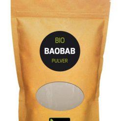 Biologisch Baobab poeder 500 gram Baobab staat in Afrika bekend als de boom van het leven, een symbool van levensonderhoud en bescherming.