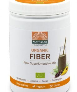 Absolute Supersmoothie Fiber Bio Mixen is een lijn van 6 producten, elk met een unieke samenstelling. Fiber en vezels Bio mix. Verpakt per 300 gram