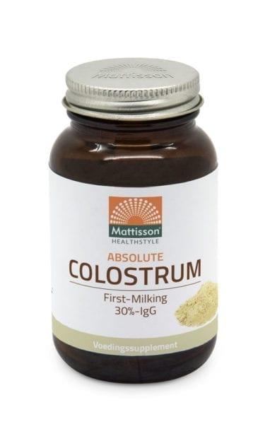 Absolute Colostrum 400 mg is afkomstig van koeien en wordt binnen 12 uur na het kalveren afgenomen. Het bevat een hoge concentratie aan immuun globulinen, mineralen, vitaminen en eiwitten en bevordert het natuurlijke afweersysteem. 90 caps van 400mg