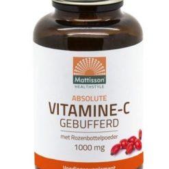 Vitamine C Gebufferd 1000mg met Rozenbottel. Absolute Vitamine C-1000 Gebufferd is een combinatie van vitamine C, Magnesium en rozenbottelpoeder.