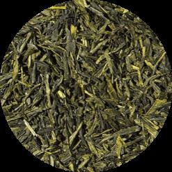 Biologische groene thee met de smaak van vanille
