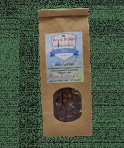 Bosvruchten thee Deze heerlijke biologische bosvruchten thee is heerlijk vol van smaak. Een intense bessenbeleving! Verpakt per 100 gram