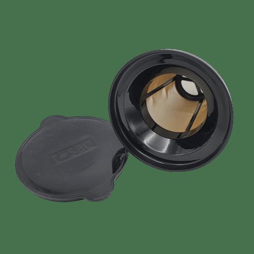 Dit herbruikbare, fijnmazige, theefilter groot is geschikt voor theepotten van 4 tot 10 kopjes.