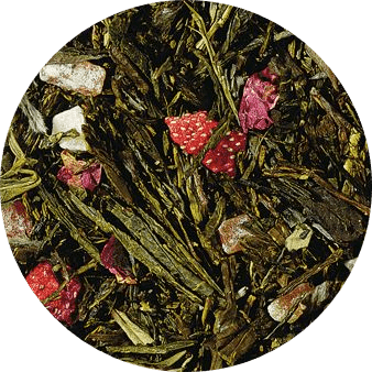 De smaken van passievrucht, ananas en aardbei vormen een perfecte symbiose met de basis van deze thee, een echte Angel's Kiss.