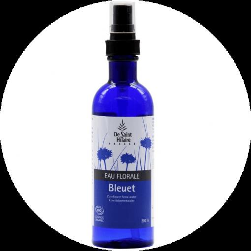 Hydrolaat Blauwe Korenbloem Biologisch is een geweldig product voor het stimuleren, verzachten en herstellen van gezwollen ogen na bijvoorbeeld een dag werken. 200ml in kunststof fles met verstuiver