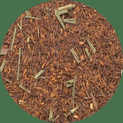 Rooibos thee met lemongrass,de citroengras (lemongrass) in deze rooibosthee geeft de thee een zeer frisse en verkwikkende smaak.