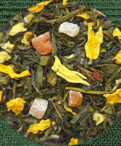 Groene thee Ananas Papaya Weer zo'n smaakvolle groene thee melange. Groene thee van super kwaliteit aangevuld met ananas en papaya.