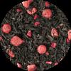 Zwarte thee Fresh Berries. Verfrissende rode aardbeien, zwarte bessen en felroze frambozen, gekust door de zon, wachten om van te genieten.