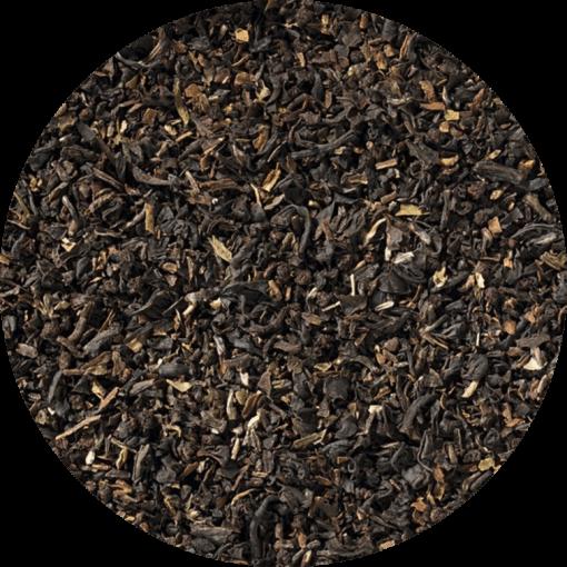 Scottish Breakfast, deze melange is een combinatie van speciale, zorgvuldig geselecteerde biologische gebroken theesoorten uit Assam, het Afrikaanse continent en Noord-Indiase hoogland variëteiten.