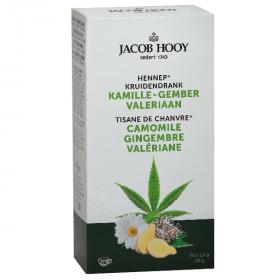 Jacob Hooy Kruidendrank Hennep kamille gember valeriaan Een thee op basis van hennep, kamille en valeriaan. Een heerlijke rustgevende thee Handig om mee te nemen of als losse thee (kruiden) niet uw ding is.
