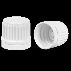 Dop met druppelaar wit 18mm