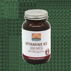 Vitamine K2 MK7 Menaquinone - 200 mcg tabletten
