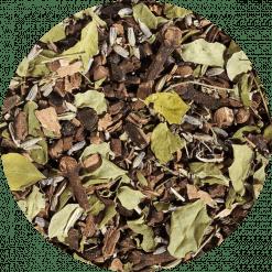 Chai thee Cocoa Kaneel Bio Wie zegt dat thee en chocolade niet samen gaan? Probeer dan deze heerlijk chai thee eens. Een feest in uw theeglas, een nog groter feest om te proeven. Deze smaakvolle thee is verpakt per 100 gram